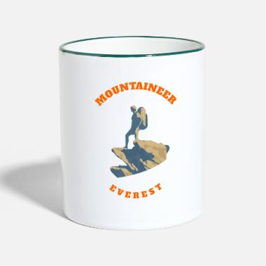 Summit Climber on summit - Two-Tone Mug
