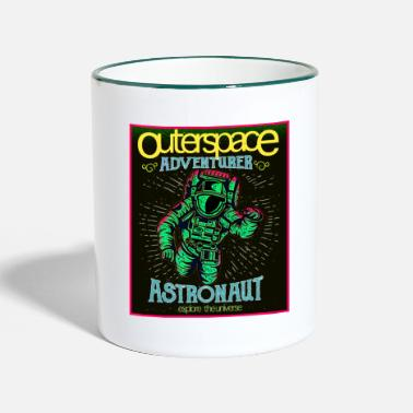 Outerspace Outerspace - Astronaut in retro look - Two-Tone Mug