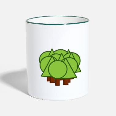Mixed Mixed forest - mixed forest - forest - Two-Tone Mug
