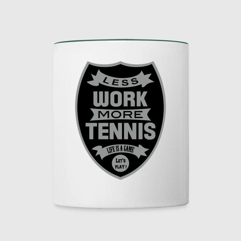 Less work more Tennis - Mok tweekleurig