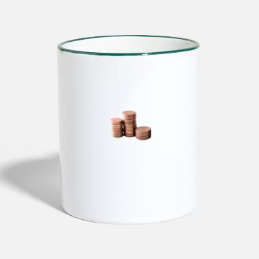 Coin coins - Two-Tone Mug