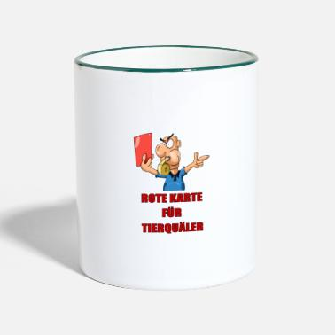 Red Card Red card - Two-Tone Mug