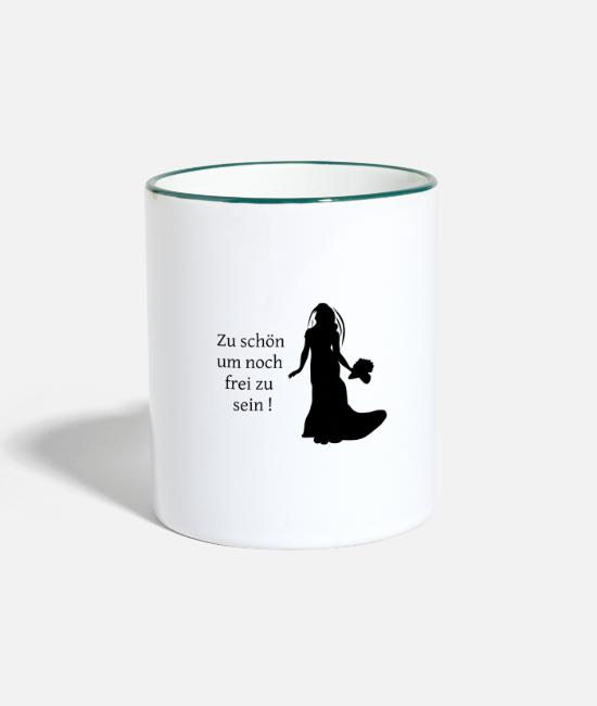 Hen Mugs & Drinkware - Junggesellinenabschied - Two-Tone Mug white/dark green