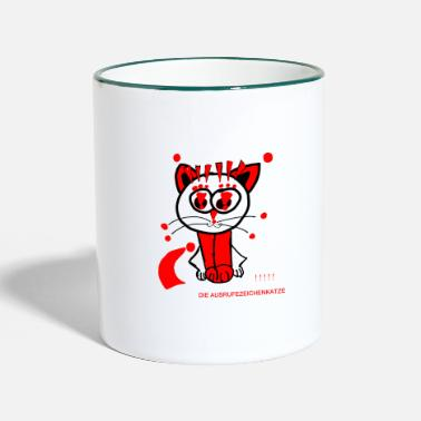 Punctuation Marks The exclamation mark cat loves punctuation marks - Two-Tone Mug