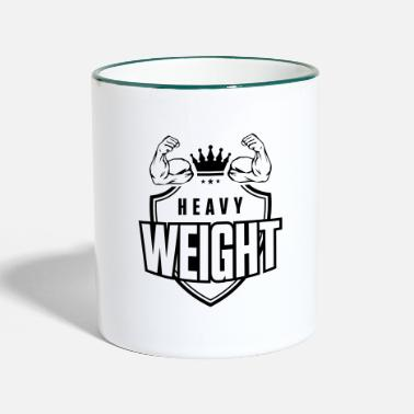 Heavyweight muscles arm biceps heavyweight - Two-Tone Mug