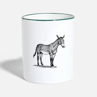 Donkey Anime donkey, animal, hobby - Two-Tone Mug
