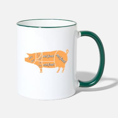 Future Pig - not food - Two-Tone Mug