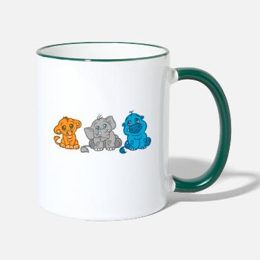 animaux de la jungle - Mug bicolore