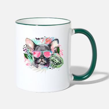Animal Planet Cute Frenchie With Sunglasses - Two-Tone Mug