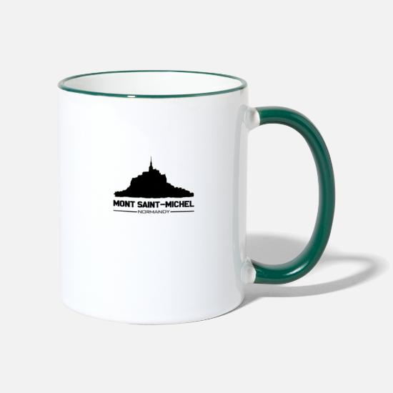 Michel Mugs & Drinkware - Mont Saint Michel - Two-Tone Mug white/dark green