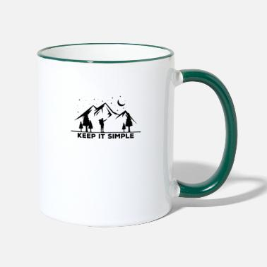 Tasse de grimpeur de randonnée Keep It Simple - Mug bicolore