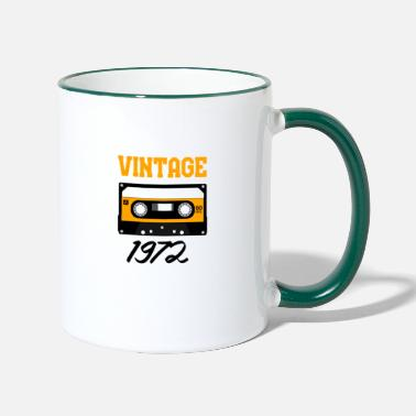 Audio Vintage 1972 Year of construction 1972 Year of birth 1972 - Two-Tone Mug