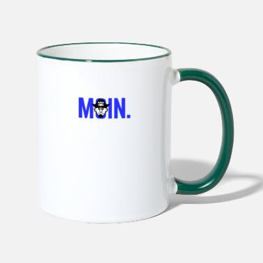 Moin, gift, Baltic Sea, North Sea, vacation - Two-Tone Mug