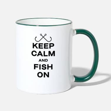 Aunt Fishing fishing gift angler fisherman fish keep - Two-Tone Mug