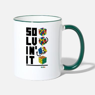 Officialbrands Rubik's Cube Solvin' It - Contrasting Mug