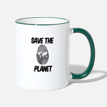 Save The Planet save the planet save the planet gift - Two-Tone Mug