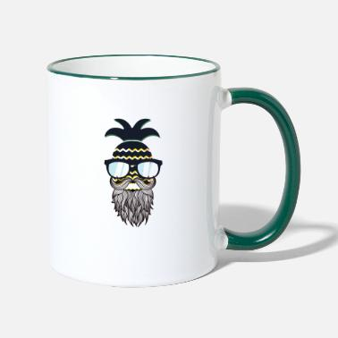 Glass Underwear Funny perfect hipster pineapple - Two-Tone Mug