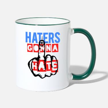 Finger Haters gonna hate - Two-Tone Mug