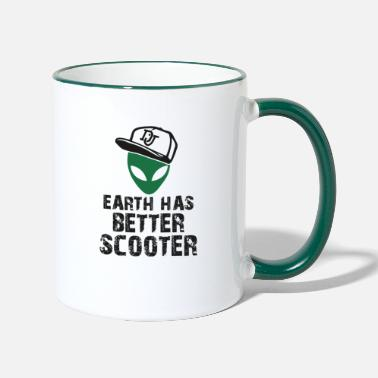 Scooter Alien scooter - Two-Tone Mug