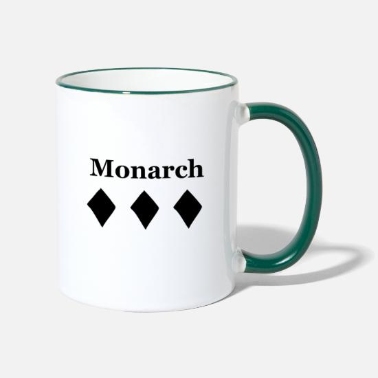 Chic Mugs & Drinkware - Monarch - The royal design - Two-Tone Mug white/dark green