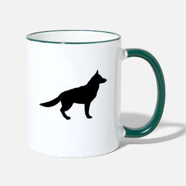 German Shepherd german shepherd - Contrasting Mug