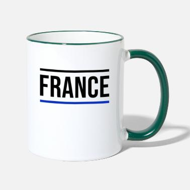Red France Europe Paris French Tour Eiffel - Two-Tone Mug
