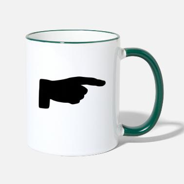 Finger finger - Two-Tone Mug