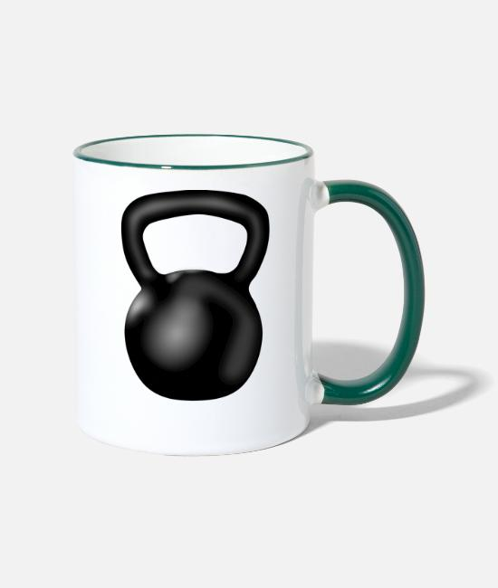 Exercise Mugs & Drinkware - KettleBell - Two-Tone Mug white/dark green