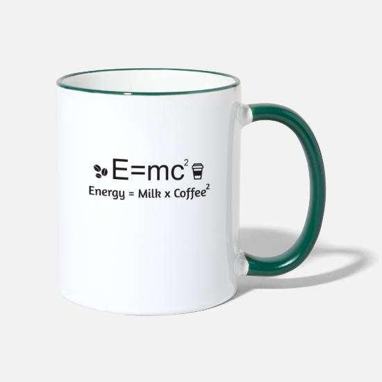 Junkie Mugs & Drinkware - E = MC² - Two-Tone Mug white/dark green