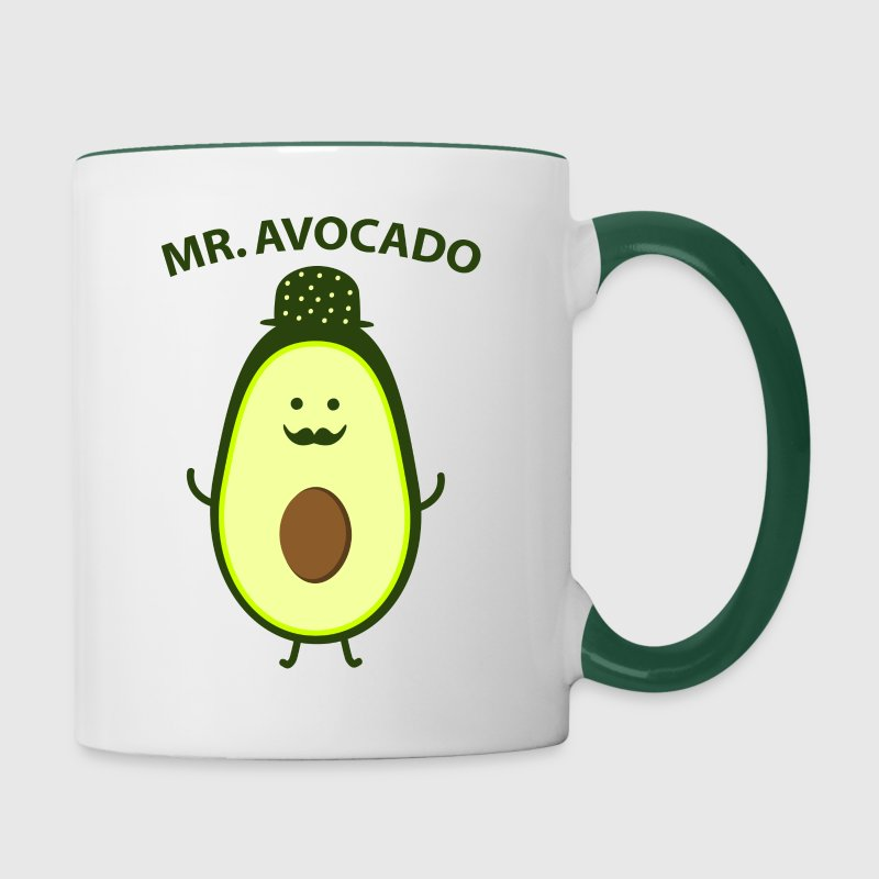 Mr. Avocado - Tasse zweifarbig