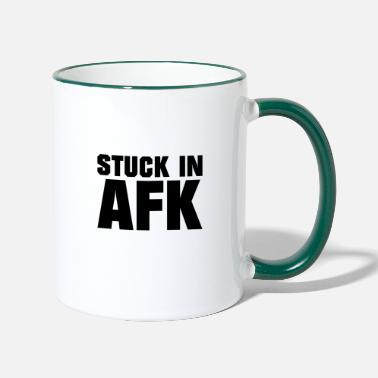 Konsole Stuck in AFK - Gaming - Tasse zweifarbig