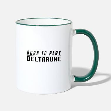 Undertale Born to PLAY DELTARUNE - Contrasting Mug