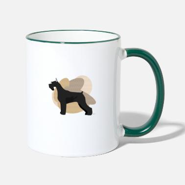Ixco Dogs Collection by IxCÖ #Schnauzer - Two-Tone Mug