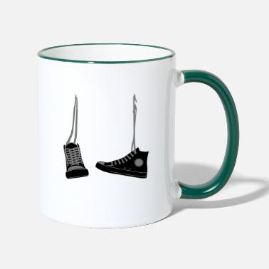 Hanging shoes - Two-Tone Mug