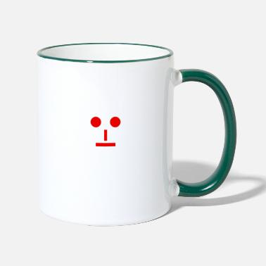 Neutral Neutral emoji - Two-Tone Mug