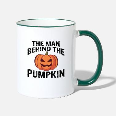 The man behind the pumpkin - Two-Tone Mug