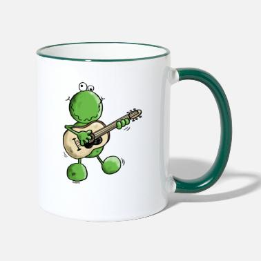 Frog Rock and Pop Frog - Frogs - Two-Tone Mug