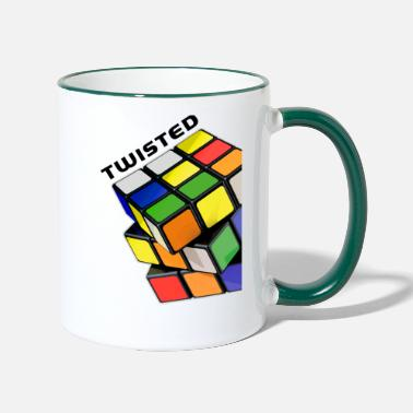 Cube Rubik's Cube Twisted Sides - Two-Tone Mug