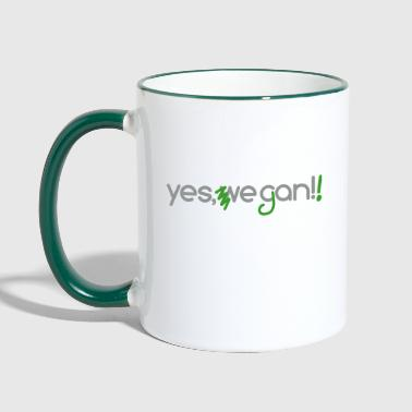 yes we can vegan - Tasse zweifarbig