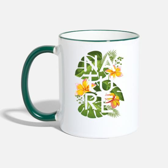 Homedecor Mugs & Drinkware - JUNGLE BLACK - Two-Tone Mug white/dark green