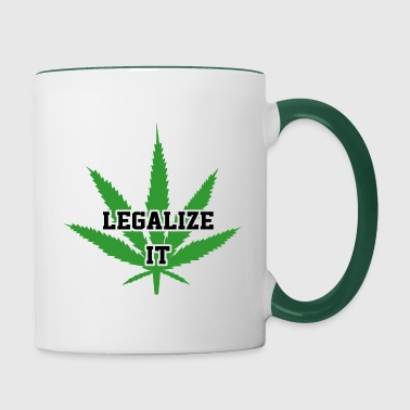 Legalize Marijuana Medical Cannabis Weed - Contrasting Mug