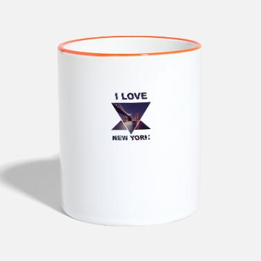 Love New York Template I Love Love - Kubek kontrastowy