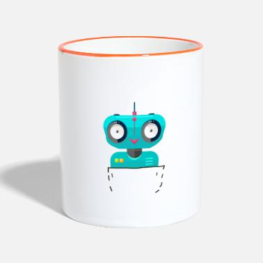 Scifi pocket robot bags robot scifi - Two-Tone Mug