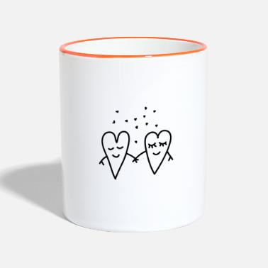 Lovely Valentines Day Love Hearts Couple Relationship girlfriend - Two-Tone Mug