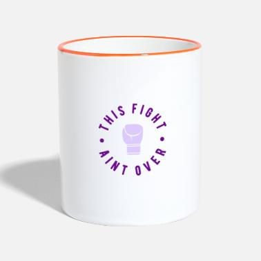 Cancer Cancer Fight Cancer World Cancer Day Fuck Fight Fight - Two-Tone Mug
