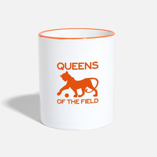 Soccer Mugs & Drinkware - Queens of the Field - Two-Tone Mug white/orange