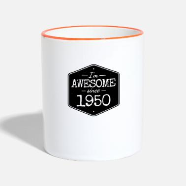 Awesome Since I'M AWESOME SINCE 1950 - Contrasting Mug