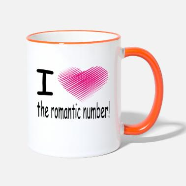 Dent i love the romantic number / heart - Mug bicolore
