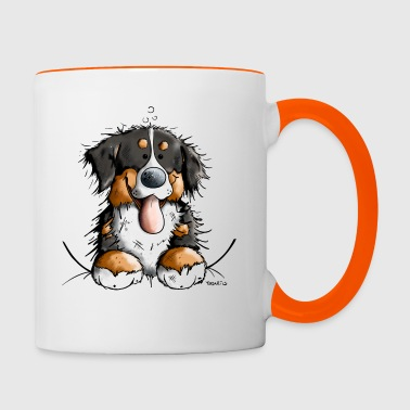 Happy Bernese Mountain Dog - Contrasting Mug