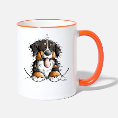 Dog Happy Bernese Mountain Dog - Contrasting Mug